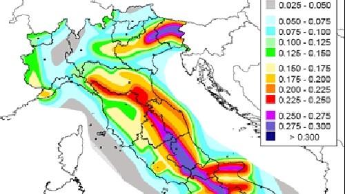 Terremoto emilia clini rivedere mappe rischio sismico for Rischio sismico in italia