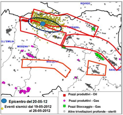 terremoti petrolio emilia romagna