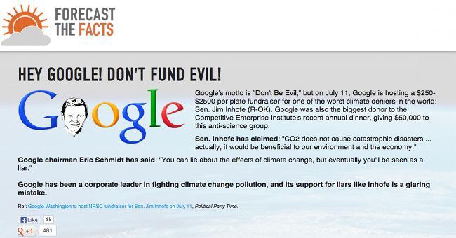 Google e il cambiamento climatico