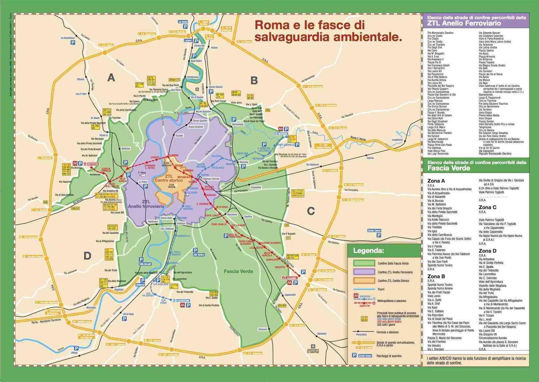 Fascia Verde, Roma