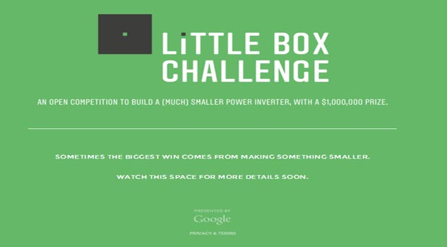 Little Box Challenge, Google Prize