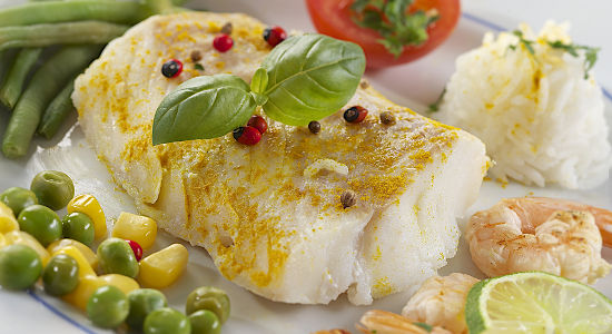 pad cod cod fillet, cooking steam, cod fillet with curry