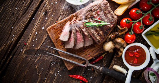 Tagliata di carne con verdure