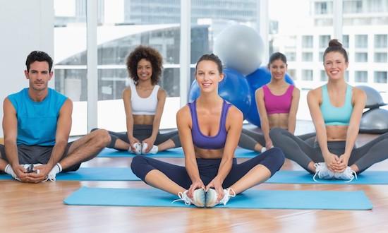 Posizione Yoga della farfalla