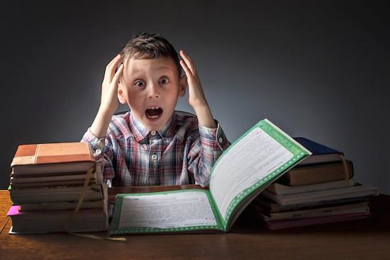 Bambino sotto stress