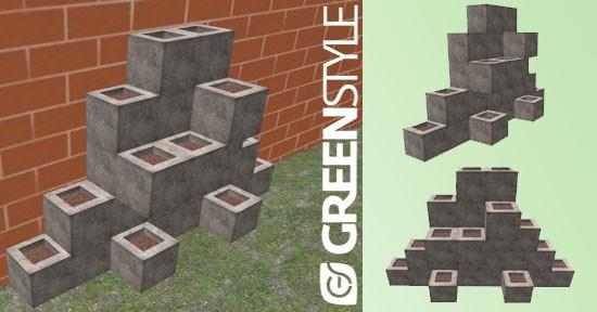 Vasi verticali, modello 3D