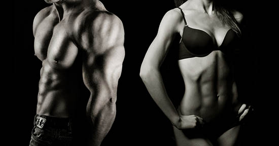 Muscoli uomo e donna
