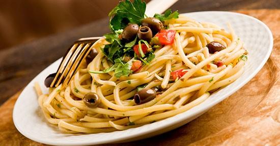 Spaghetti olive