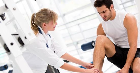 Ginnastica al ginocchio