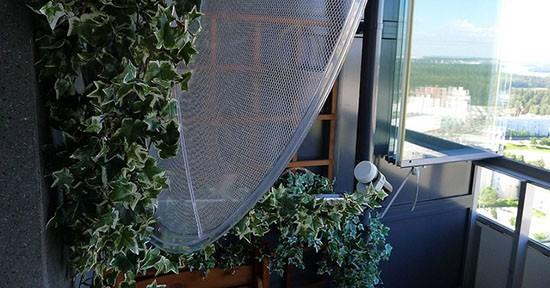 Parabola mimetizzata balcone