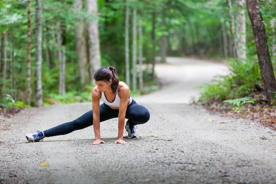 Stretching, donna