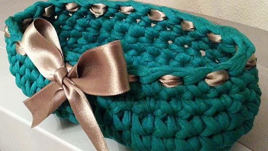 Borsa maglia all'uncinetto