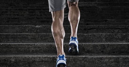 Polpaccio, allenamento sulle scale