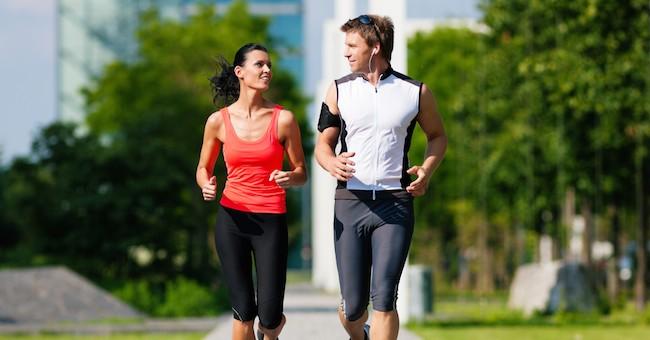 Coppia, allenamento corsa
