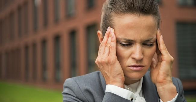 Donna con ansia e stress