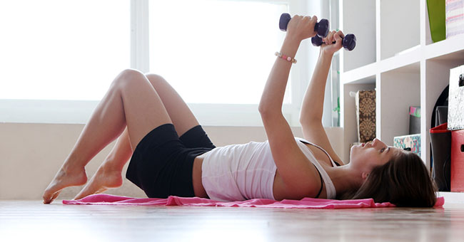 perdere peso esercizi a casa