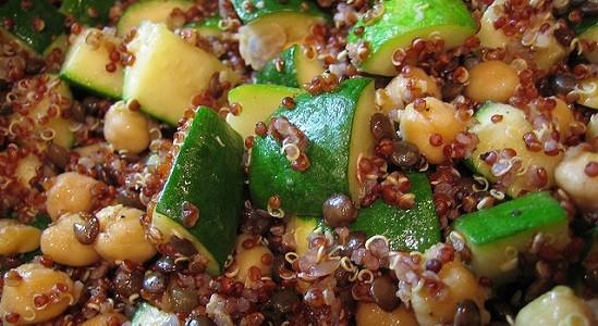 Chickpea Zucchini Quinoa Pilaf