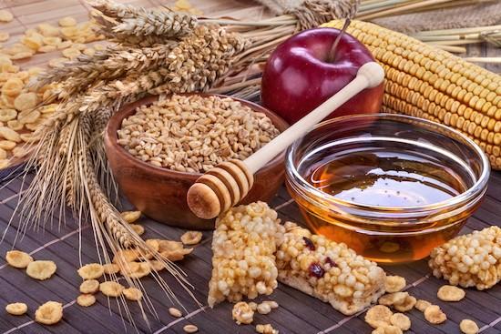 Cereali e miele alimenti energizzanti