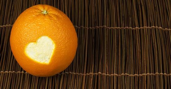 Arancia con cuore