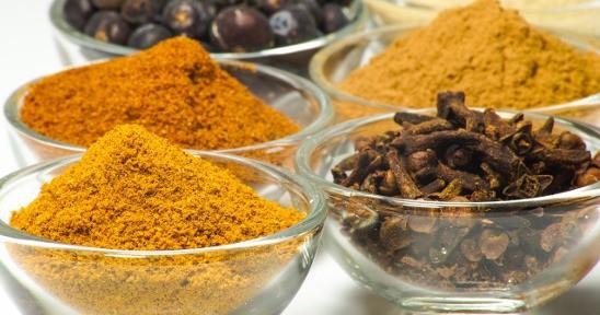 Curry ed altre spezie