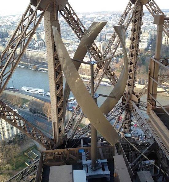 Torre Eiffel, eolico