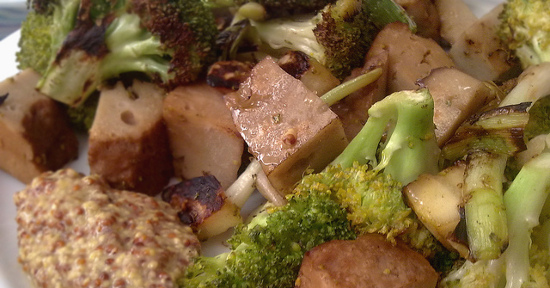 Seitan e broccoli