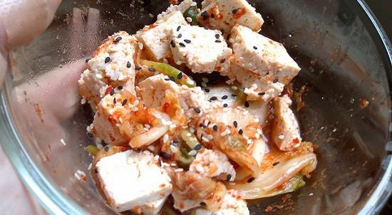 tofu and kimchee