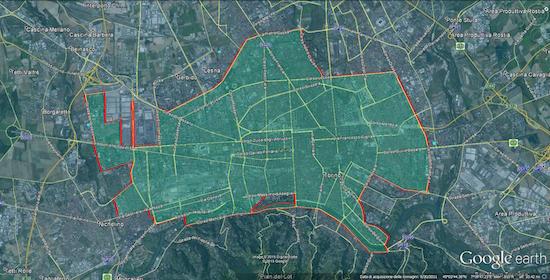 Area di copertura Enjoy a Torino