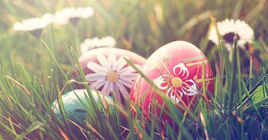 Uova di Pasqua nel prato