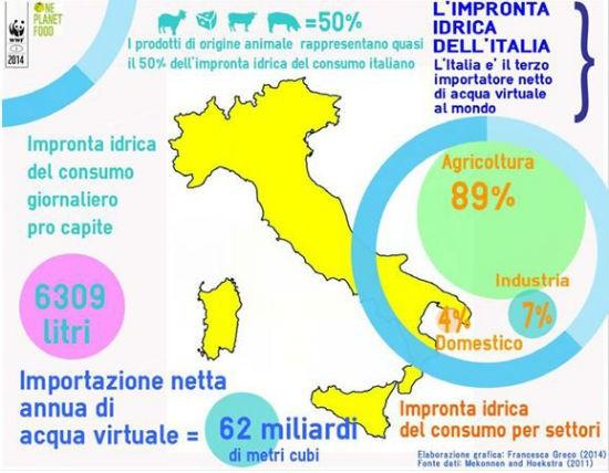 Impronta idrica Italia