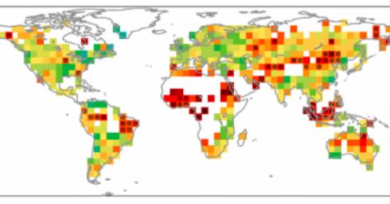 Mappa hot spots cambiamento climatico