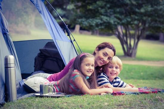 Campeggio mamma e bambini