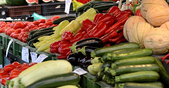 Mercato frutta e verdura