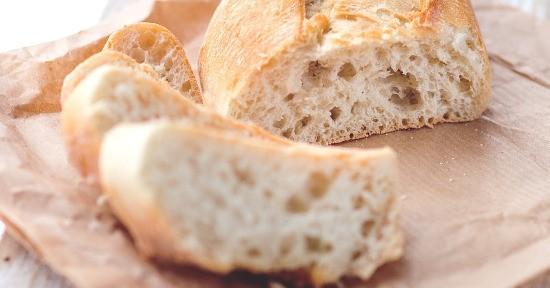 Il pane comune è realizzato con la farina di tipo 00