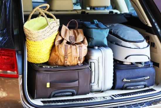 Valigie in auto per le vacanze