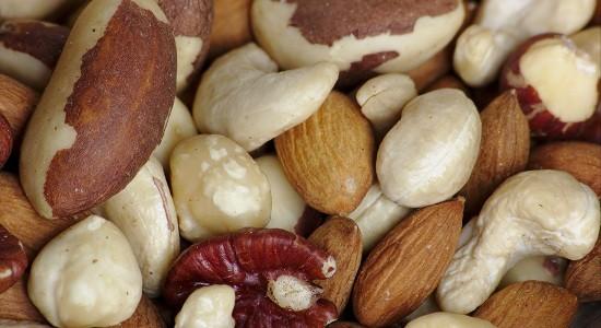 Fancy raw mixed nuts macro