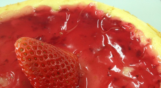 other than cupcakes, we got this strawberry cheesecake in the end