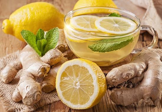 Tisana menta, limone e zenzero
