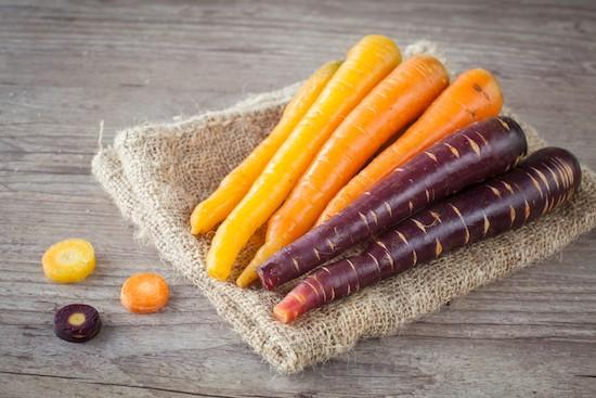 Carote color arancio e viola: differenze