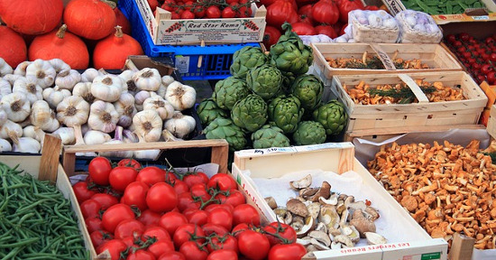 Verdure al mercato