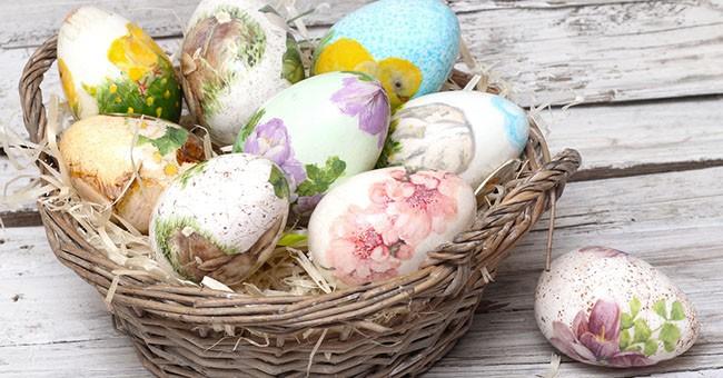 Uova di pasqua decorarle con il d coupage greenstyle - Decorazioni per uova di pasqua ...