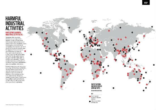 Mappa siti WH minacciati