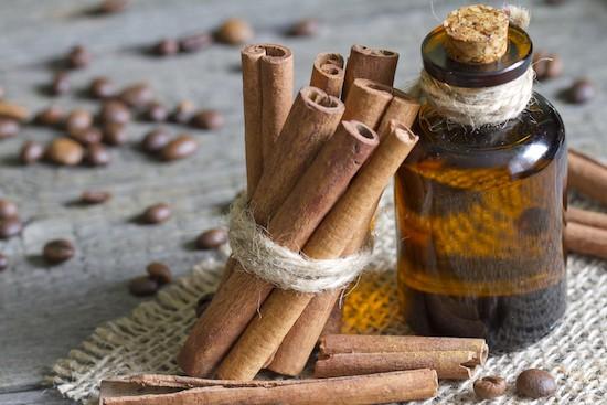 Cannella, cilindri e olio essenziale