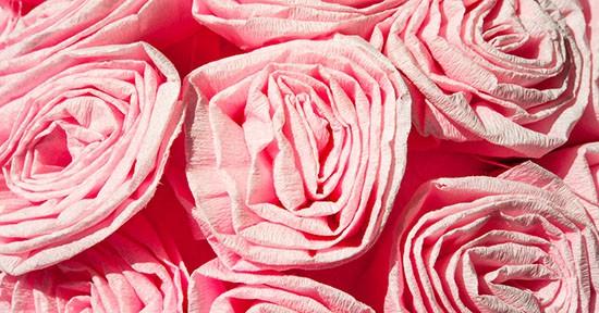 Rose di carta crespa