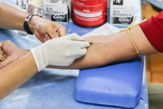 Analisi del sangue, prelievo