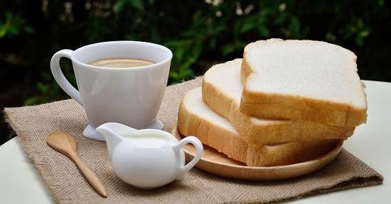 Latte pane caffè