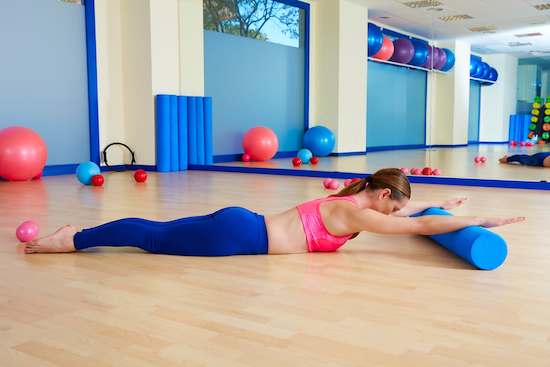 Pilates donna usa Roller foam