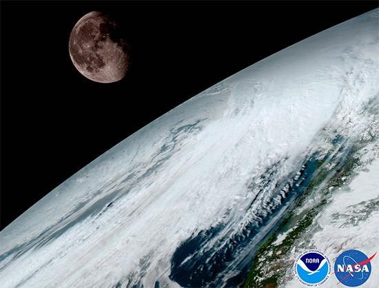 Una delle immagini inviate sulla Terra dal satellite GOES-16 della NASA