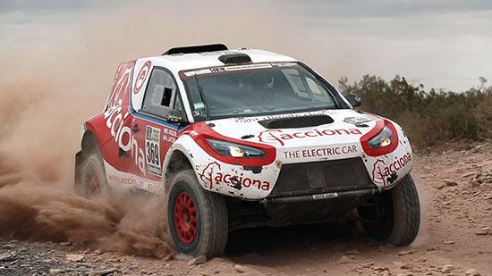 ACCIONA, la prima vettura 100% elettrica a completare il rally della Dakar