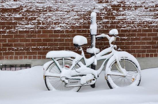 Bici sotto la neve